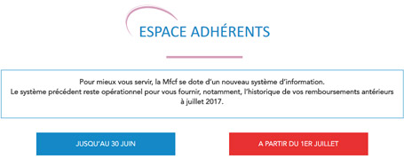 espace adherent MFCF