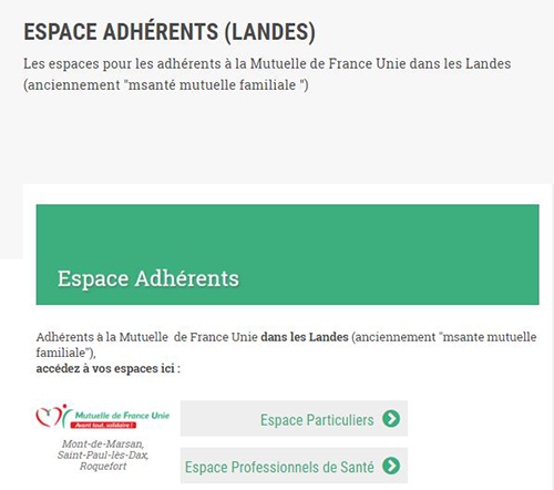 adherent mutuelle france unie landes