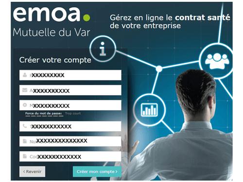 Créer un compte pro Emoa