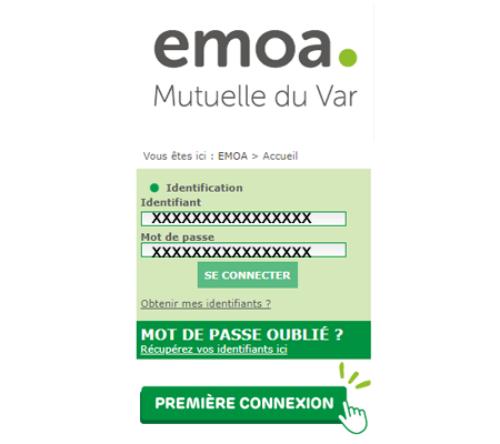 Espace adhérent EMOA mutuelle du Var