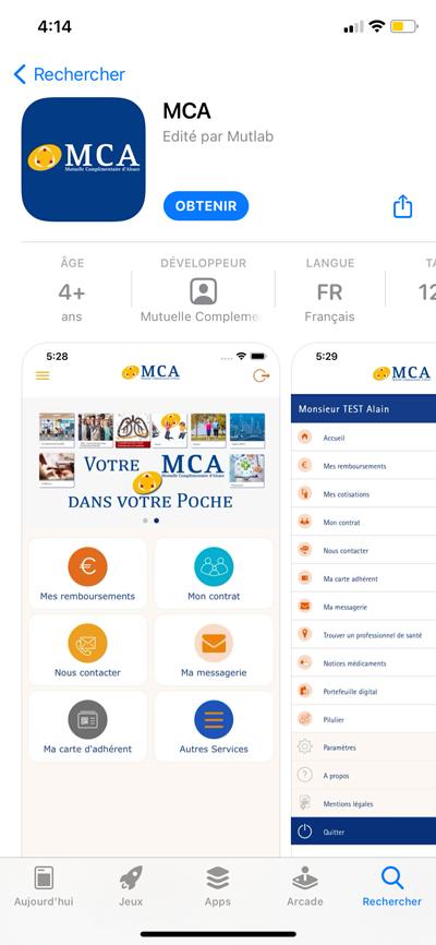 App store - MCA iPhone